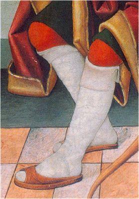- OPUS INCERTUM -: 5.CALZADOS 1486. San Sebastián mártir, Juan de la Abadía, el viejo, Museo Lázaro Galdeano (procede del retablo de Aniés, Hues: