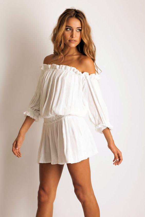 Jen&-39-s Pirate Booty &-39-Harvester&-39- mini dress in white. Wow. So pretty ...
