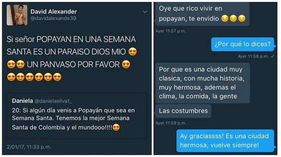 Nos encanta cuando hablas bien de #Popayán Vía @danielasilva1_
