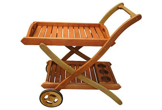 Teak Patio Bar Cart on OneKingsLane.com
