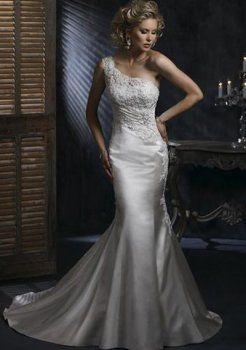 Mermaid paletta collo cappella pizzo abiti da sposa 2013