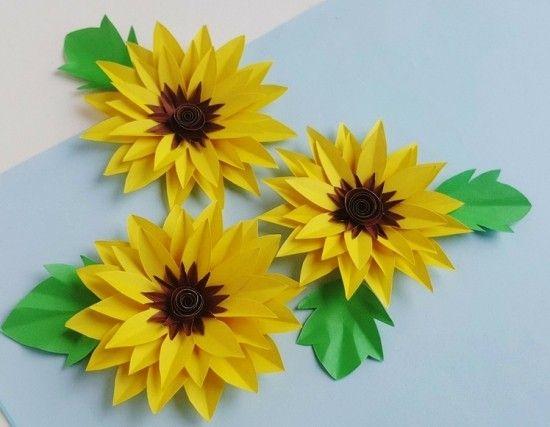 80 Frische Ideen Und 2 Einfache Anleitungen Zum Sonnenblume Basteln Wohnideen Und Dekoration Sonnenblume Basteln Blumen Basteln Aus Papier Blumen Basteln