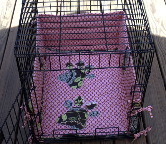 Pets Wire Crate Bed and Bumper Set Amy by CozyCritterCreations, $62.00