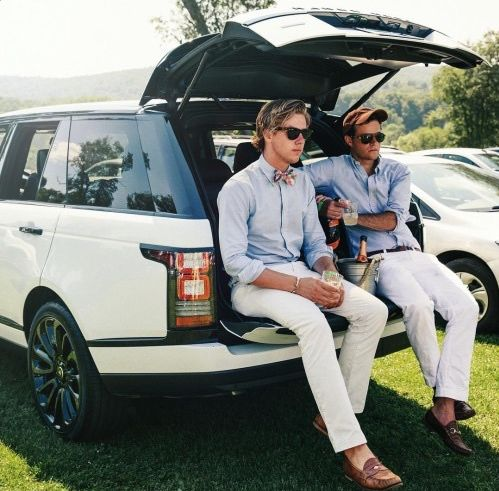 Tailgating preppy style