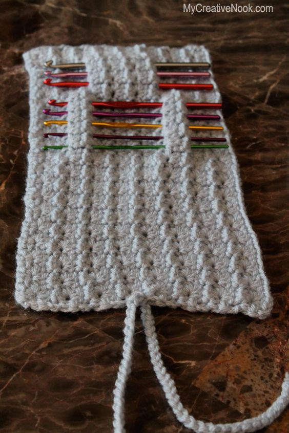 Knitting Pattern Needle Holder : Crochet Hook (or Knitting Needle) Holder Knit/Crochet Projects Pinterest ...