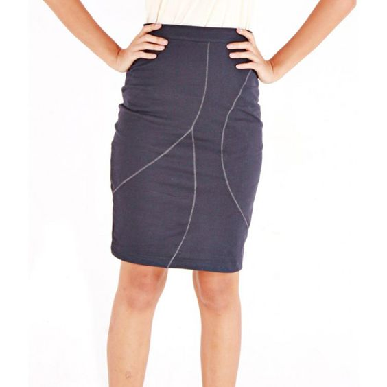 Silver Line Pencil Skirt $36.00
