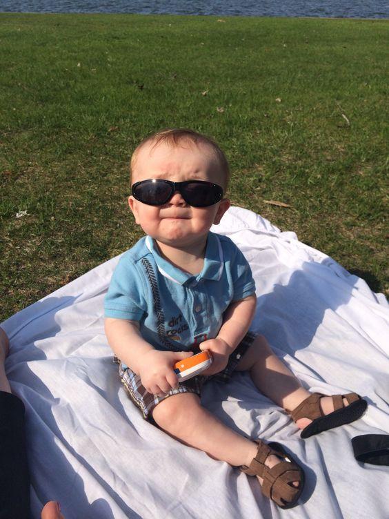 Gotta wear shades!