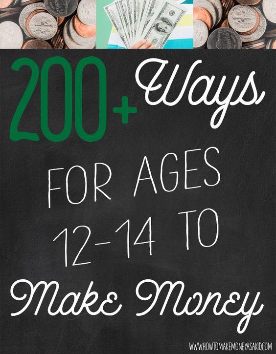 Make Money as a Kid! http://www.howtomakemoneyasakid.com/ways-to-make-money-as-a-kid/