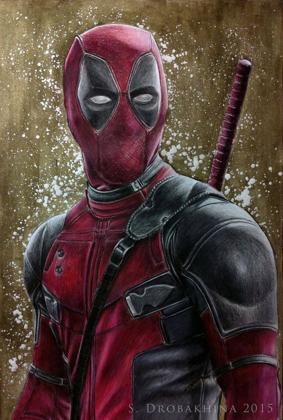 #Deadpool #Fan #Art. (Ryan Reynolds as Deadpool) By: Sakhipriya. ÅWESOMENESS!!!™