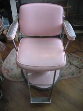 VINTAGE RETRO BELVEDERE HYDRAULIC BARBER SALON CHAIR - SEE DETAILS: