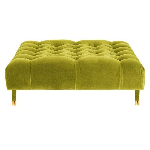 Upholstered Cocktail Ottoman Belle Fierte Upholstery Colour Yellow Leg Colour Yellow Cocktail Ottoman Folding Storage Ottoman Leather Storage Bench