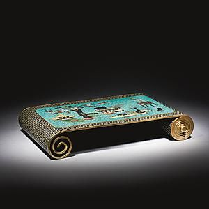 Armrest Cloisonné enamel on copper 7.2 x 27.5 x 42 cm China, early Qing dynasty, Kangxi period, 1662-1722 To be exhibited at #TEFAF2016 (11-20 March 2016) by Ben Janssens Oriental Art.