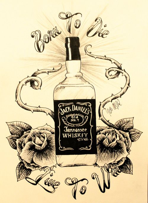 alcohol drawing tumblr google search draw pinterest jack daniels tattoo jack daniels. Black Bedroom Furniture Sets. Home Design Ideas
