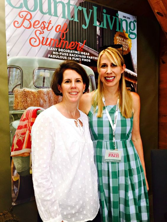 Meeting the Editor-in-Chief of Country Living Magazine at the CL Fair in Rhinebeck NY