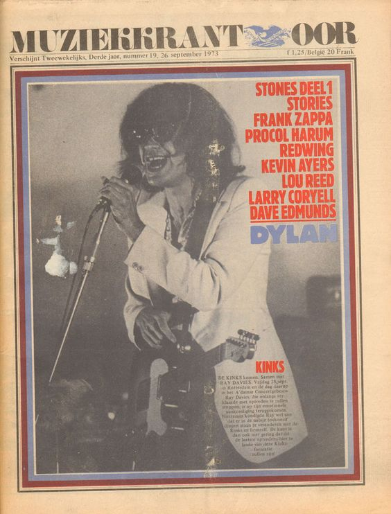 MAGAZINE OOR 1973 nr. 19 - FRANK ZAPPA/BOB DYLAN/PROCOL HARUM/KINKS (RAY DAVIES):