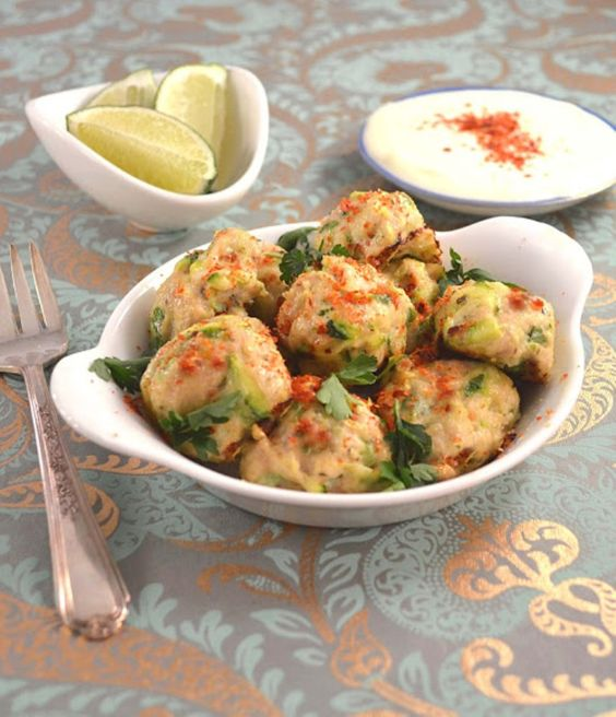 Persian Chicken Meatball Poppers with Fresh Lime & Chili - yum! These ...
