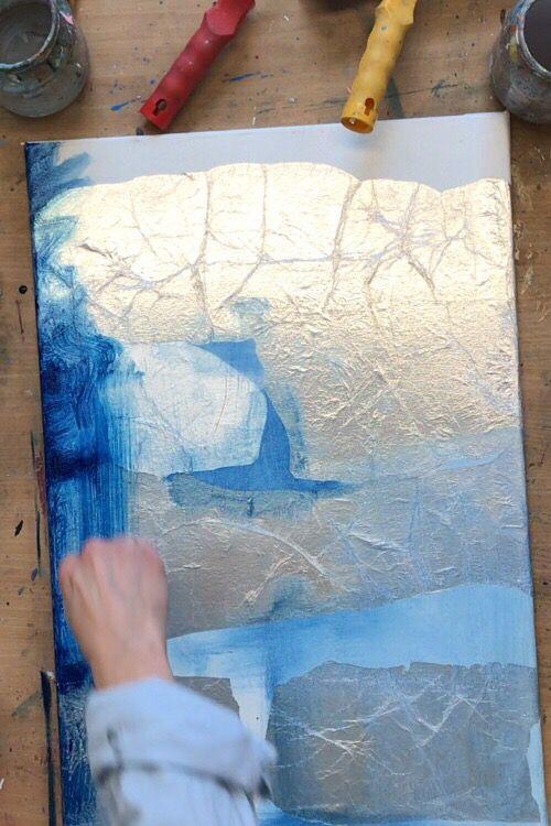 Folie Auf Leinwand Kleben Fur Abstrakt Malerei Mit Acryl