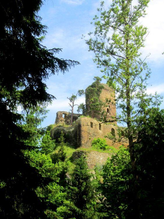 Trail running in #Czech Republic to #castle Gutštejn at Bezdružic.  More: http://trampelpfad.net