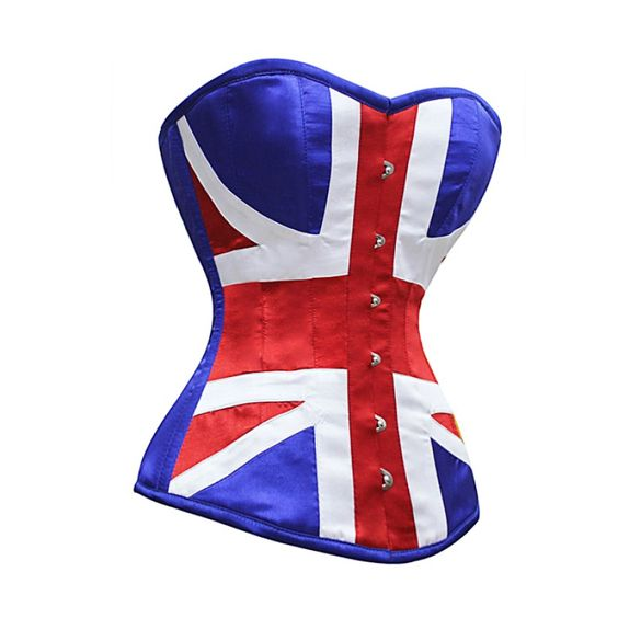 Union Jack Steel Boned Corset-for a Rose Tyler costume, perhaps?