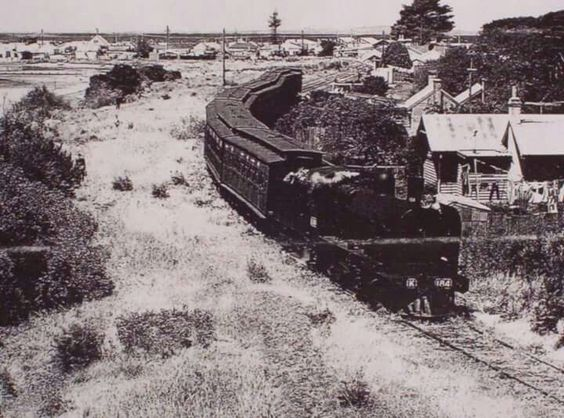 Leaving Queenscliffe Railway Station in Victoria (year unknown) A♥W