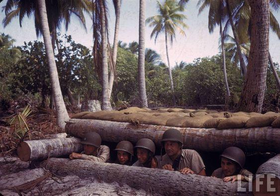Rare Color Photographs of American Troops on Tarawa Atoll, Gilbert Islands during World War II