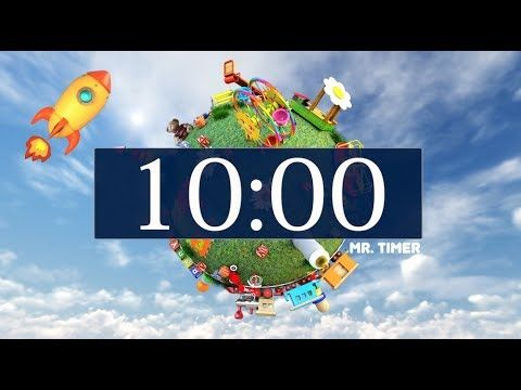 10 Minute Timer With Relaxing Upbeat Music And Alarm Countdown Clock Fo In 2021 Clock For Kids Countdown Clock 10 Minute Timer