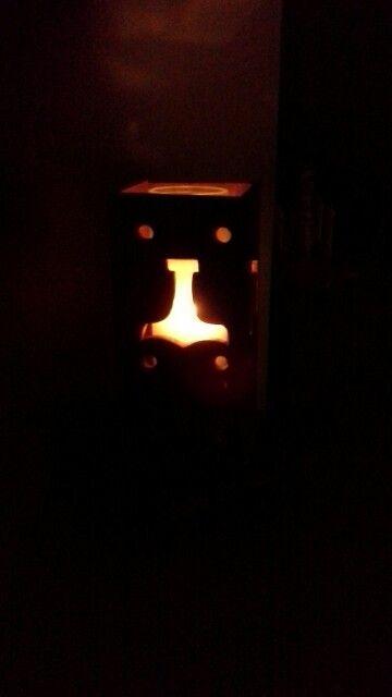 Mjolnir candle box holder