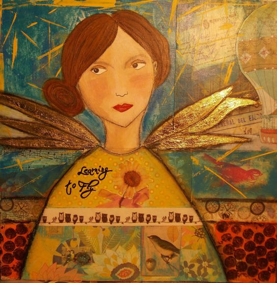 Amelia 10x10 Orginal Mixed Media Canvas by FaithMinersDaughter, $35.00