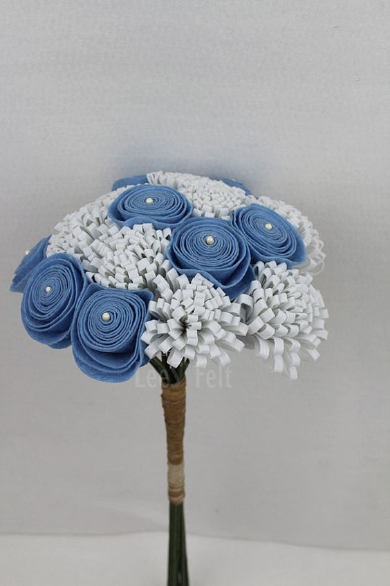 Bouquet  de noiva de tecido