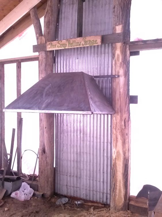 Blacksmith Forge Hoods ~ Homemade blacksmith forge hood soap hollow custom