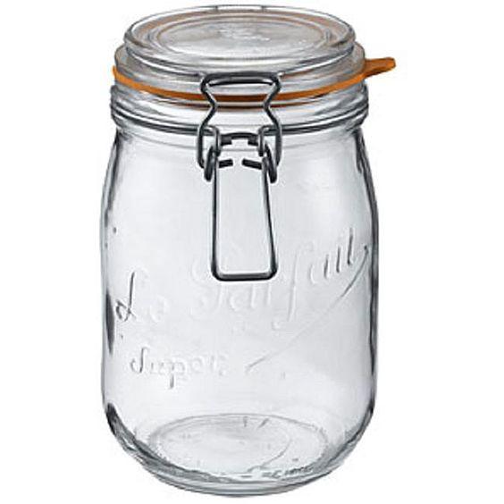 <li>Keep these La Parfait canning jars on hand for added kitchen storage </li> <li>1.5-liter glass jars are an ideal option for food storage </li> <li>Set includes three (3) glass canning jars </li>