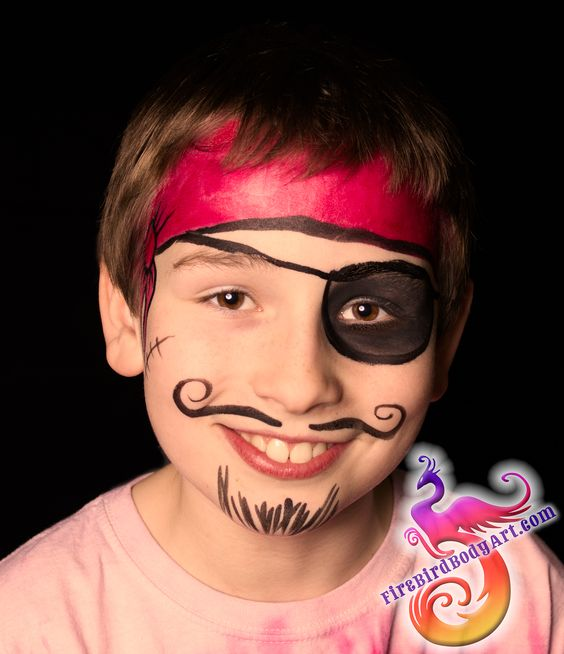To be, Pirate face paintings and Kid on Pinterest