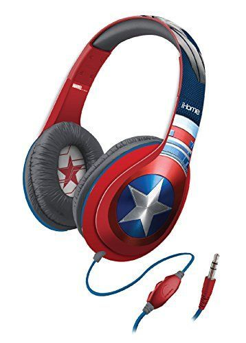 Captain America Headphones<<I SAW THOSE IN A STORE. NEEEEEED