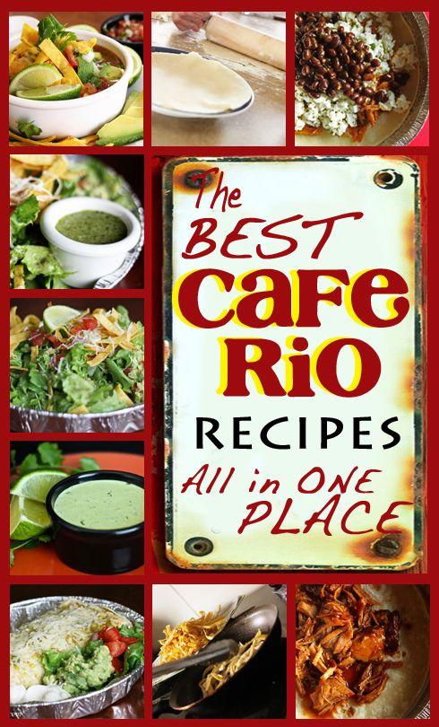 Cafe Rio Recipes -- Just in time for Cinco de Mayo! from favfamilyrecipes.com #caferiorecipes