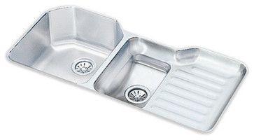 Elkay Harmony [Lustertone] Undermount Stainless Steel Kitchen Sink traditional-kitchen-sinks. $860