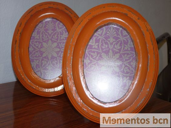 Marco ovalado de madera