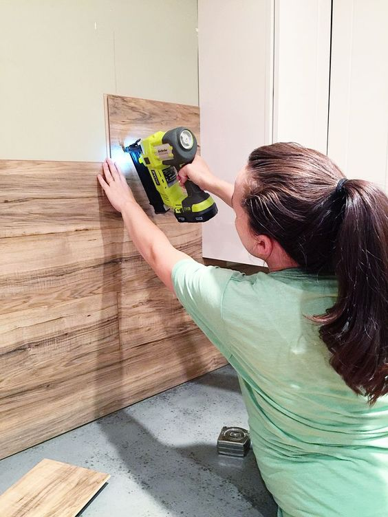 planked laminate walls