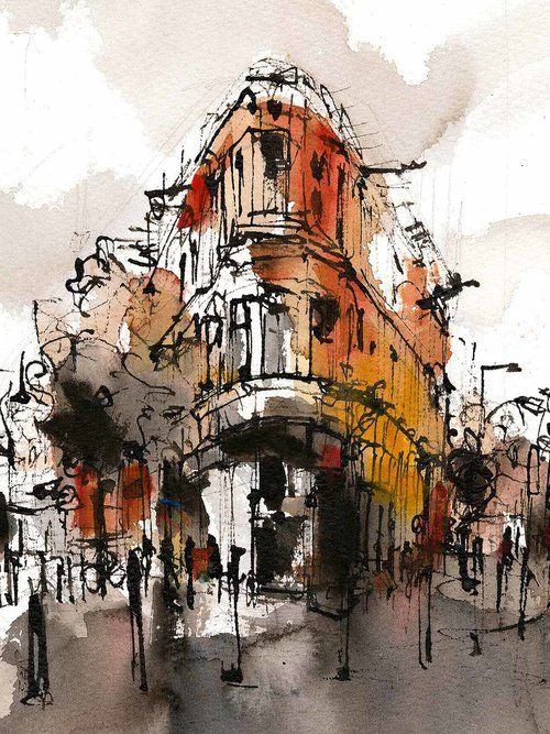 Current Work Emma Fitzpatrick Urban Painting Watercolor