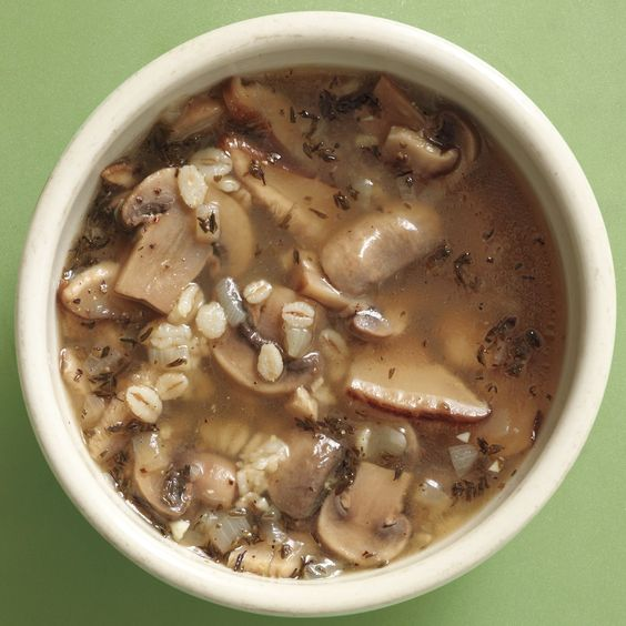 Mushroom-Barley Soup | Recipe | Barley soup, Mushroom barley soup and ...