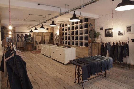 Edwin store london store design retail pinterest for Retail interior designers in london
