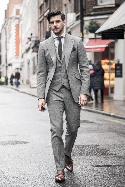 stile mannliche manner klassische ideen graue anzug