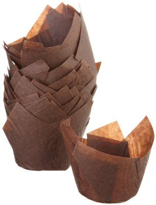 Regency Tulip Baking Cups, Brown, standard, 24 count:Amazon:Kitchen & Dining