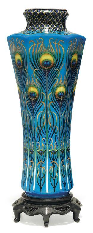 peacock vase: