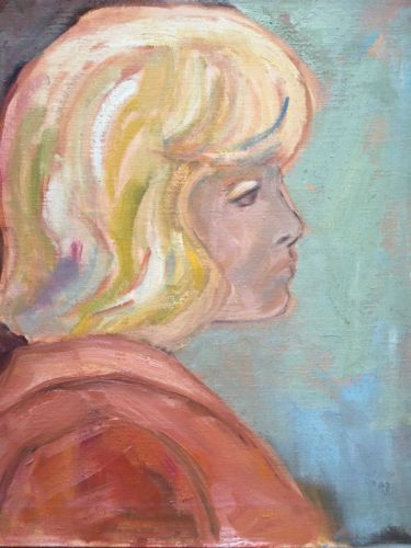 Vintage-Expressionist-Oil-Painting-Portrait-of-a-Woman-Girl-by-Mystery-PA-Artist