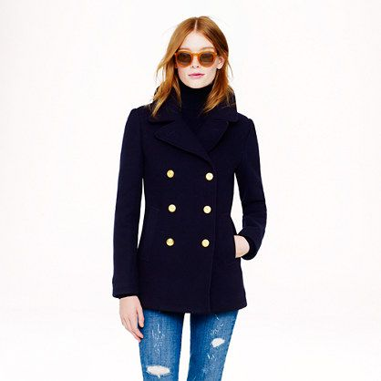 Women's pea coat navy blue – Fashionable jacket 2017 photo blog