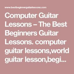 computer guitar lessons the best beginners guitar lessons. Black Bedroom Furniture Sets. Home Design Ideas