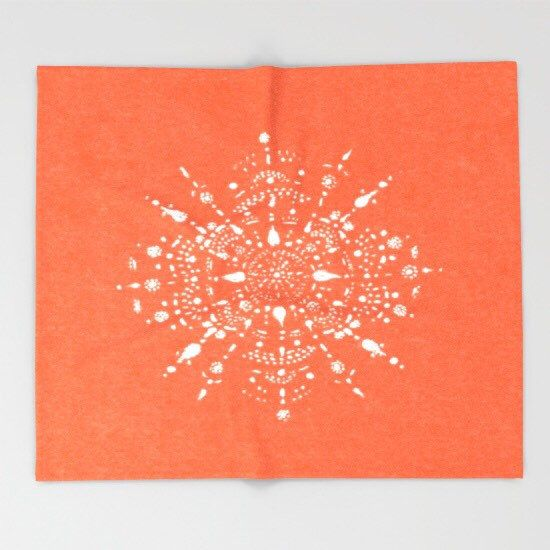 A personal favorite from my Etsy shop https://www.etsy.com/listing/454218618/coral-throw-blanket-mandala-blanket-dorm