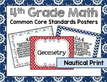 This is a graphic of Gratifying 4th Grade Common Core Math Standards Printable