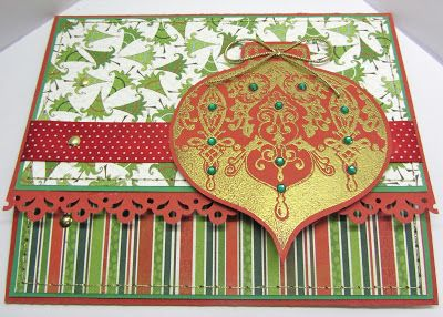 Sunny Summer Crafts: Christmas Card Club #3: Tri-Fold Card in Traditional Colours