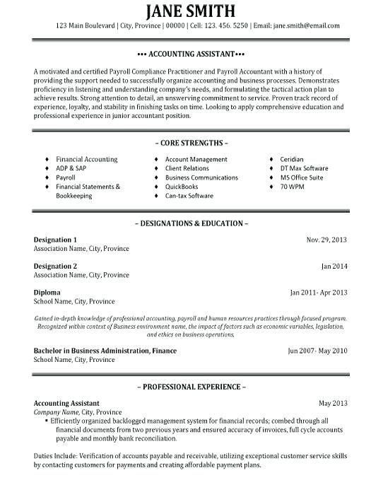 Resume Format For An Accountant
